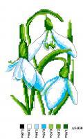 Набор вышивки нитками А5 030 Цветочек