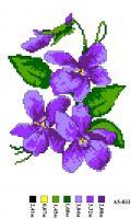 Набор вышивки нитками А5 033 Цветочек