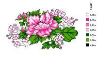 Набор вышивки нитками А5 043 Цветочек