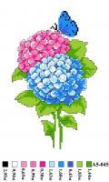 Набор вышивки нитками А5 045 Цветочек