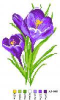 Набор вышивки нитками А5 048 Цветочек