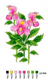 Набор вышивки нитками А5 056 Цветочек