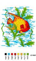 Набор вышивки нитками А5 060 Рыбка