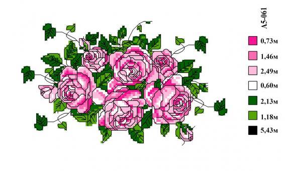 Набор вышивки нитками А5 061 Цветок