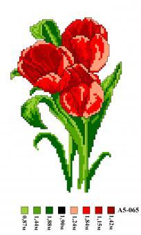Набор вышивки нитками А5 065 Розы
