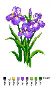 Набор вышивки нитками А5 069 Цветы
