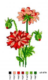 Набор вышивки нитками А5 070 Цветы