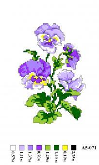 Набор вышивки нитками А5 071 Цветы