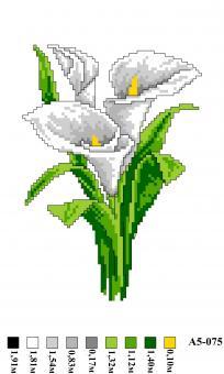 Набор вышивки нитками А5 075 Цветы