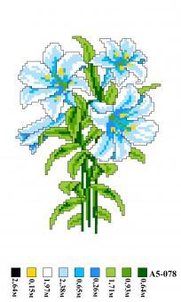 Набор вышивки нитками А5 078 Цветы