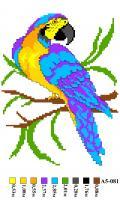 Набор вышивки нитками А5 081 Попугай