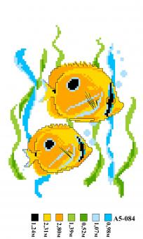 Набор вышивки нитками А5 084 Рыбки