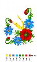 Набор вышивки нитками А5 087 Цветочек