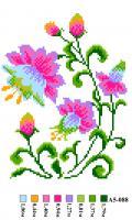 Набор вышивки нитками А5 088 Цветочек