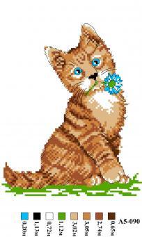 Набор вышивки нитками А5 090 Кошка