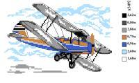 Набор вышивки нитками А5 092 Самолет