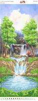 Вышивка бисером Пано ПМ 4059  Водопад (частичная зашивка)