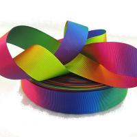 Репсовая лента радуга 2,5 см №528  (100 ярдов)