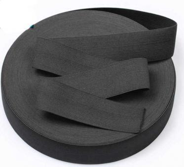 Резинка для одежды 4см черная