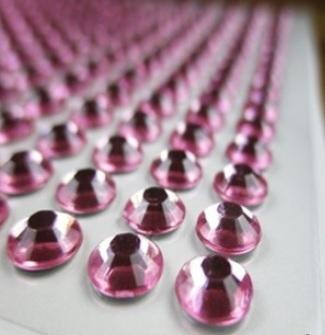 Клеевой камень на планшете  8мм  (220шт) розовый