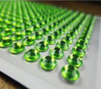 Клеевой камень на планшете  8мм  (220шт) салатовый