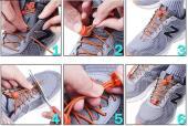 Шнурки с быстрой  затяжкой светоотражающие  белые
