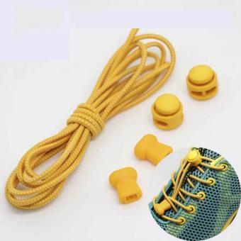 Шнурки с быстрой  затяжкой светоотражающие желтые