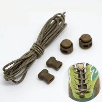 Шнурки с быстрой  затяжкой светоотражающие  коричневые