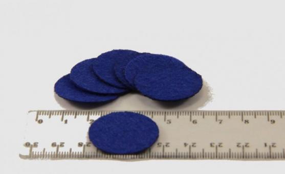 Фетр в кружках 100шт  синий
