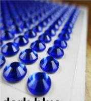 Клеевой камень на планшете  8мм  (220шт) синий