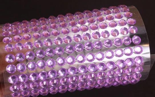 Клеевой камень на планшете  8мм  (220шт) сиреневый