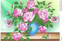 Вышивка бисером СВ 2006 Розы частичная вышивка