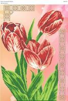 Вышивка бисером СВ 2010 Тюльпаны