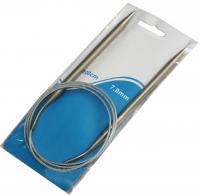 Спица для вязания на тросе 100см  №7