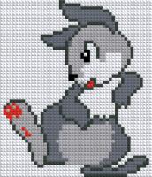 Набор Алмазной мозаики АВ 5064 Заяц  полная зашивка
