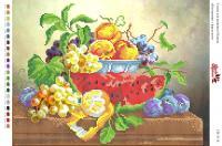 Вышивка бисером СВ 3118 Натюрморт с фруктами  (частичная зашивка)