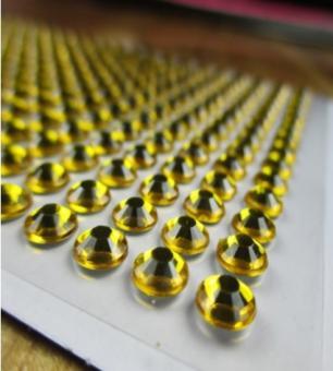 Клеевой камень на планшете  6мм  (504шт) золото