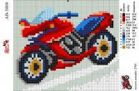 Набор Алмазной мозаики формат АВ 5008 Байк